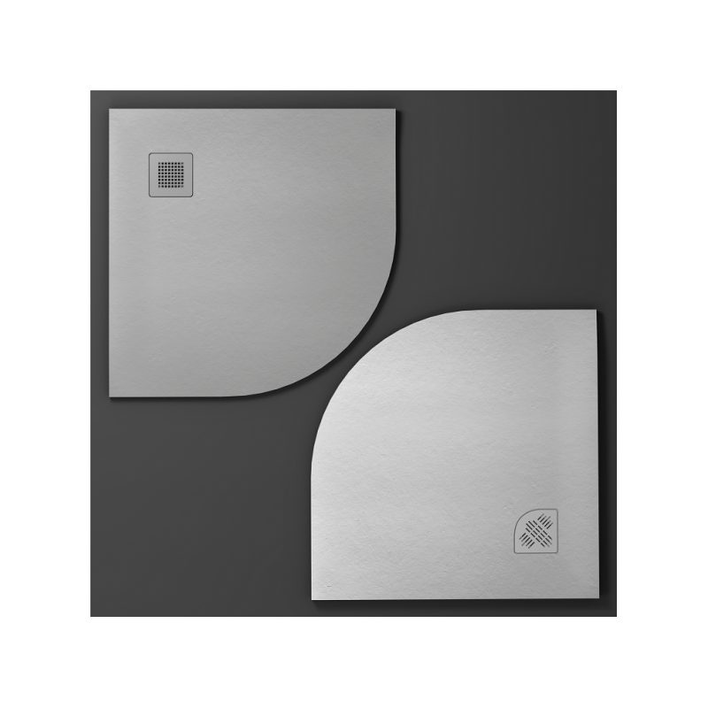 Plato de ducha semicircular CURVE de NUOVVO