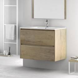 HIRO YOKO - MELAMINA NEBRASCA CLARO-- mueble de baño Nuovvo