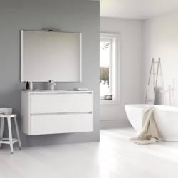 HIRU KEO - LACADO BLANCO BRILLO -conjunto de mueble