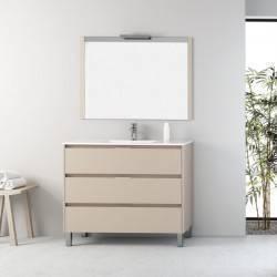 HIRU MASAI - LACADO GRIS OLIVA  - mueble de baño