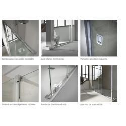 DETALLES - VAROBATH 300-200 LINE FIJA 1 fijo y  1 puerta corredera + lateral fijo