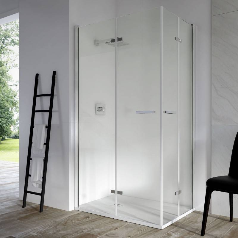 Mampara de Ducha Angular - SINTESIS (VAROBATH) - 2 puertas plegables