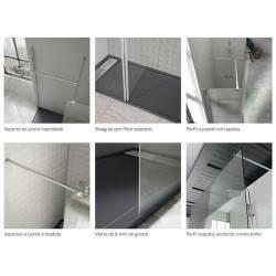 detalle VAROBATH 600-204 TALOS FIJO 1 fijo y 1 puerta abatible