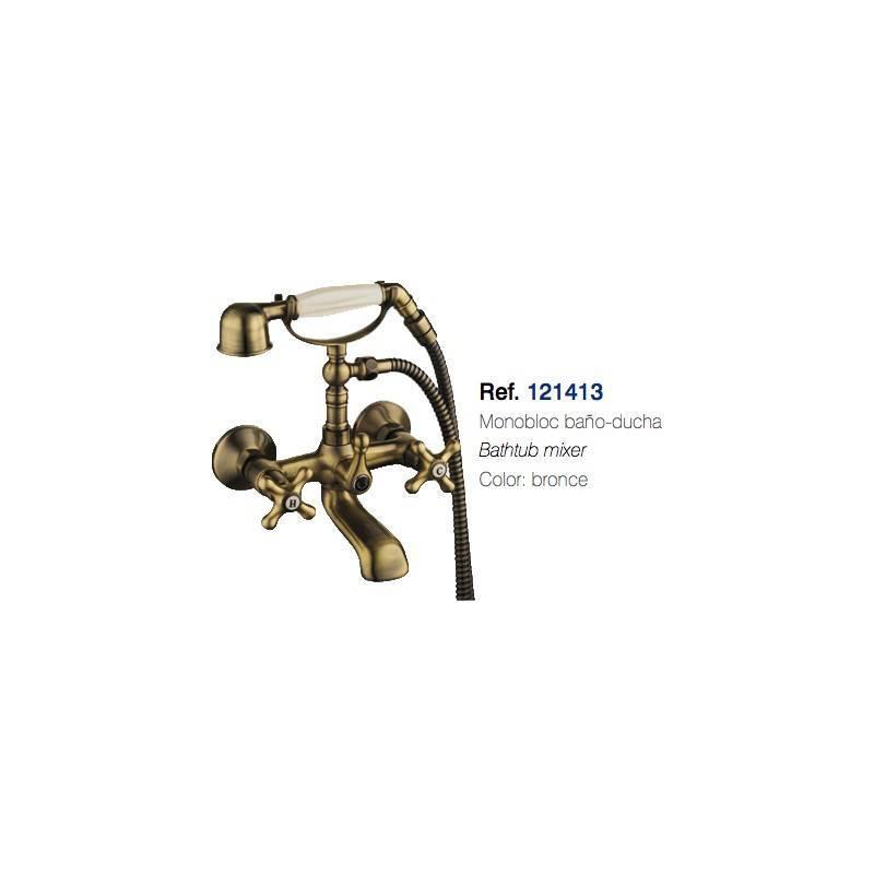 Grifo para Bañera - CLAUSYBATH - serie CLASSIC - Monomando en bronce