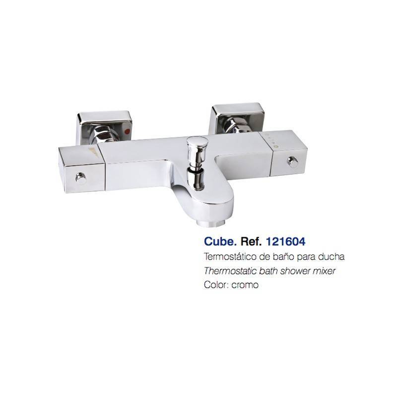 Termostático para Bañera - CLAUSYBATH - serie CUBE - cromo