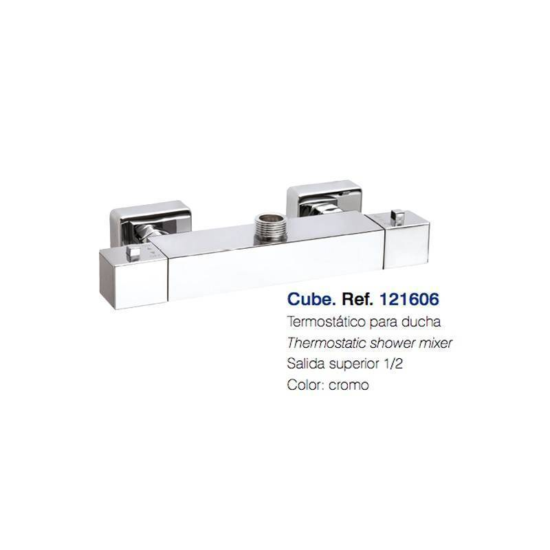 121606 termostatica-CUBE DUCHA SALIDA SUPERIOR