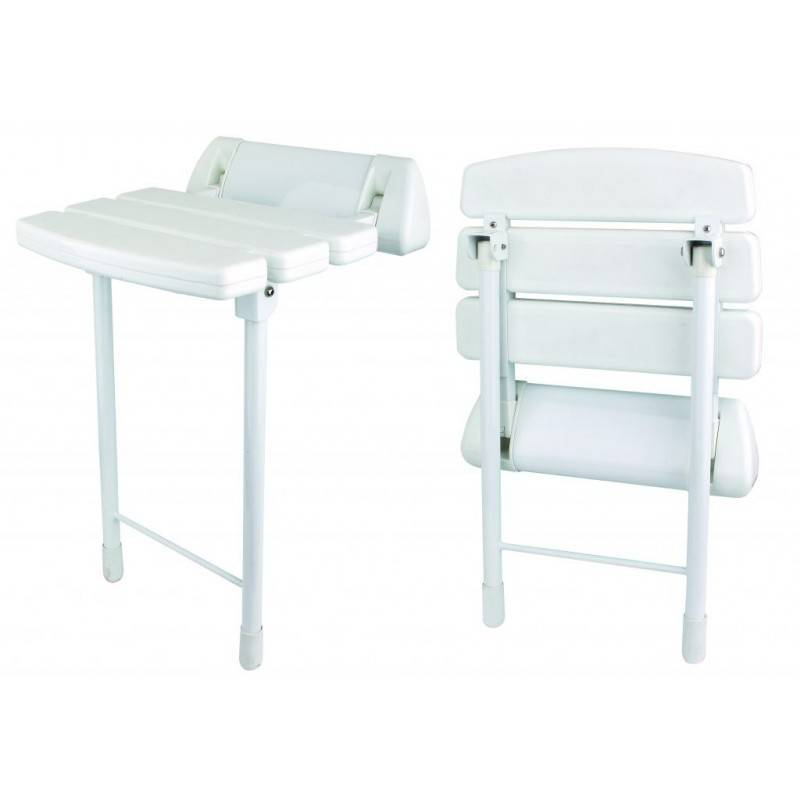 Asiento de ducha plegable - CLAUSYBATH - blanco