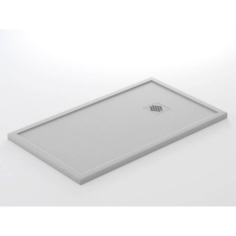 Plato de ducha de resina - MAR - textura PIZARRA, GRANITO, LISO, TELA - color BLANCO-GRAFITO-NEGRO-CREMA
