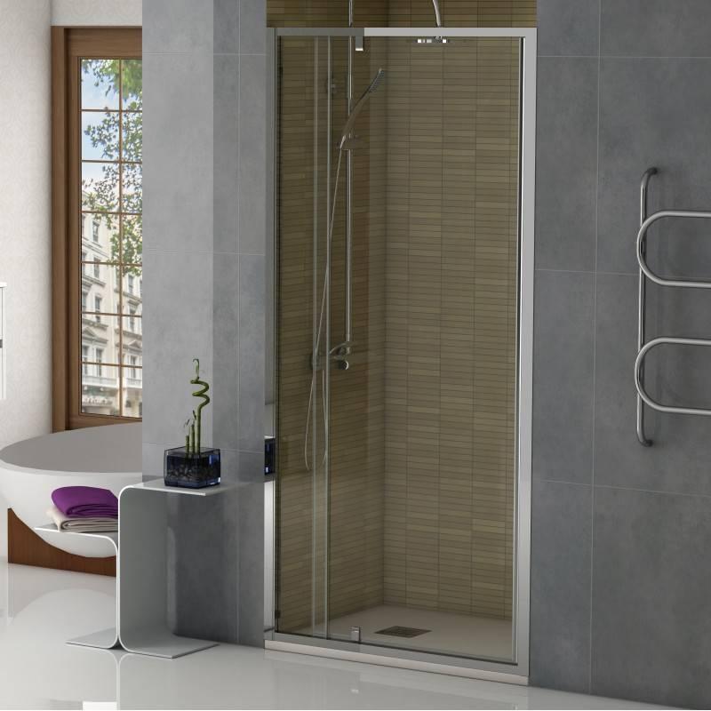Mampara Frontal de ducha - INSIDE (BECRISA) - transparente - 1 puerta pivotante