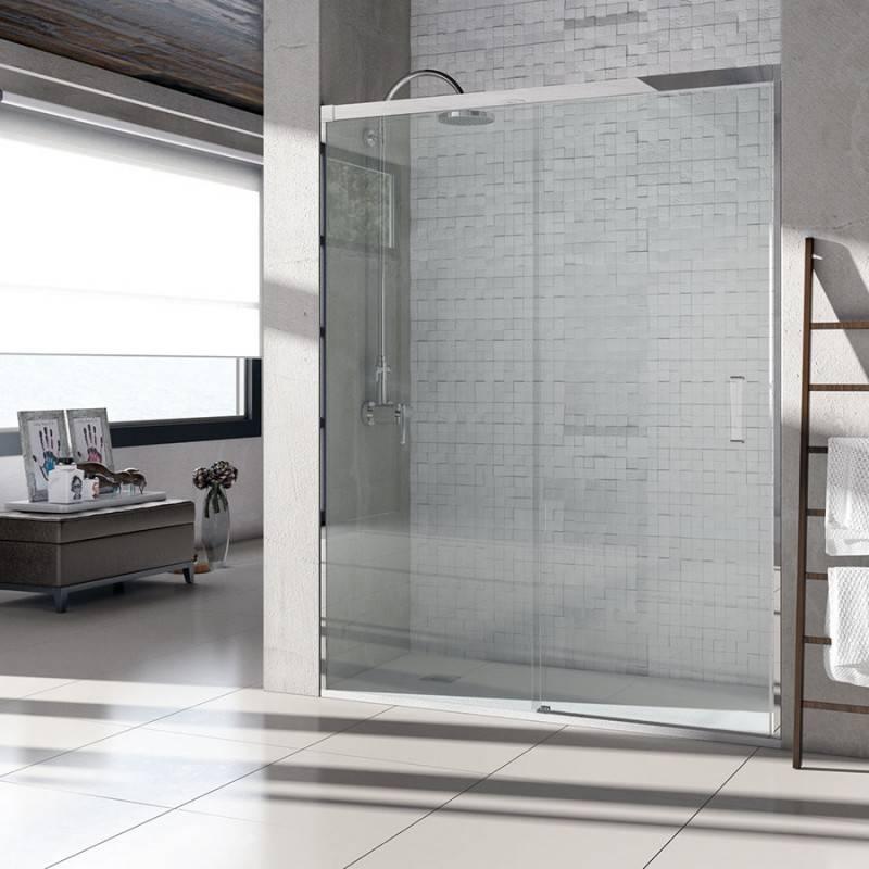Mampara de Ducha Frontal - BASIC (VAROBATH) - 1 fijo y 1 puerta corredera