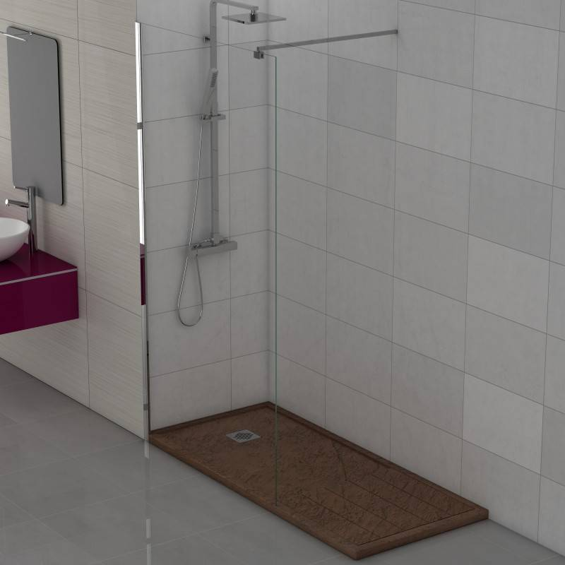 Mampara Frontal de ducha Fija - FREE (BECRISA) - transparente-decorado - 1 fijo