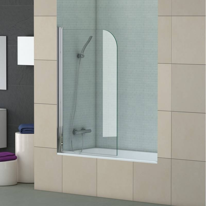 Mampara Frontal de bañera- SCREEN TRANSPARENTE (BECRISA) - transparente - 1 puerta abatible sin cierre