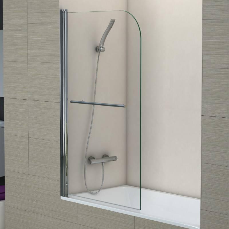 Mampara Frontal de bañera- SCREEN TOALLERO (BECRISA) - transparente - 1 puerta abatible sin cierre