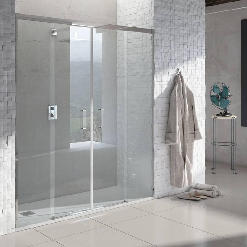 Como instalar una mampara de ducha frontal beautiful - Como instalar una puerta corredera ...