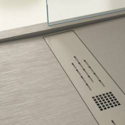 Plato de ducha NUOVVO WOOD textura madera - detalle 1