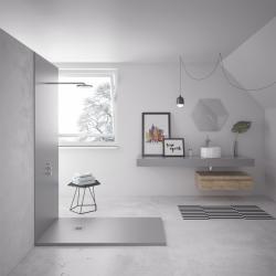 Plato de ducha resina textura granito suave SMOOTH NUOVVO - detalle 4