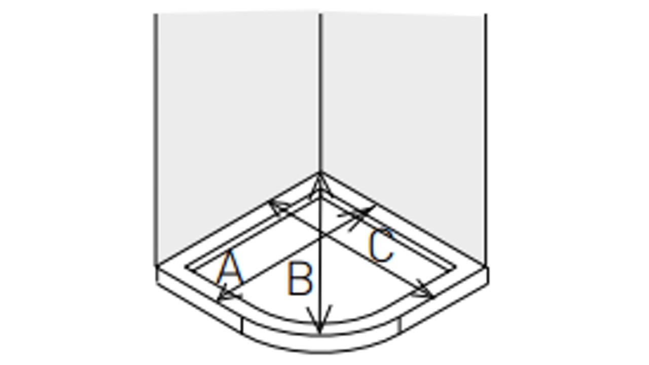 Mamparas De Bano 80x80.Como Medir Una Mampara Semicircular De Ducha Estilobano